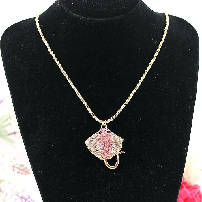 Fashion necklace 2014 new bi long drill tropical fish sweater chain Pendant accessories, 140813 - jewelry shop paradise store