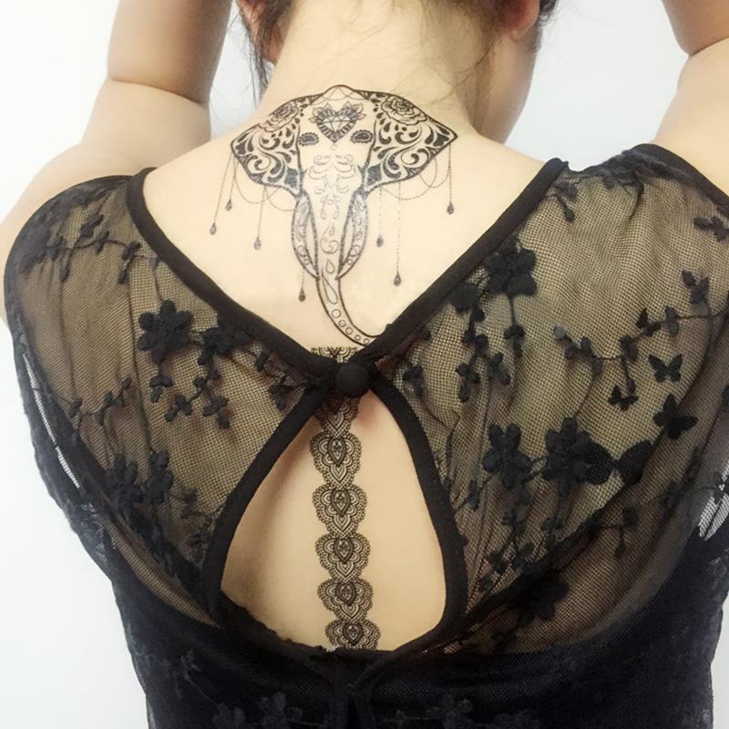 300pcs lot black lace totems henna tattoo stickers for Black temporary tattoo