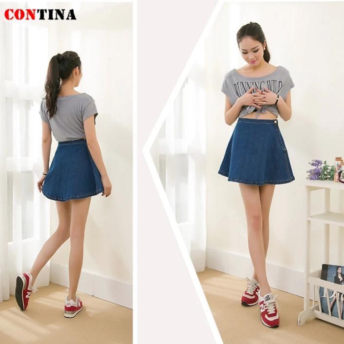 Denim mini skater skirt – Modern skirts blog for you