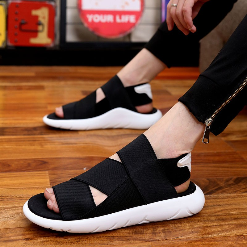 shoes men sandals lovers white Summer essential Breathable stretch fabric soft comfortable Beach shoes