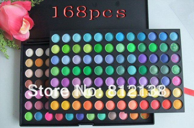 FREE SHIPPING  Pro 168 Colors Shimmer matte baked Eyeshadow  make up Palette #1& #2,Hot selling, HS-A260