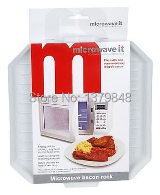 MICROWAVE MICROWAVABLE PLASTIC BACON CRIPSER COOKER DEFROSTING RACK(China (Mainland))