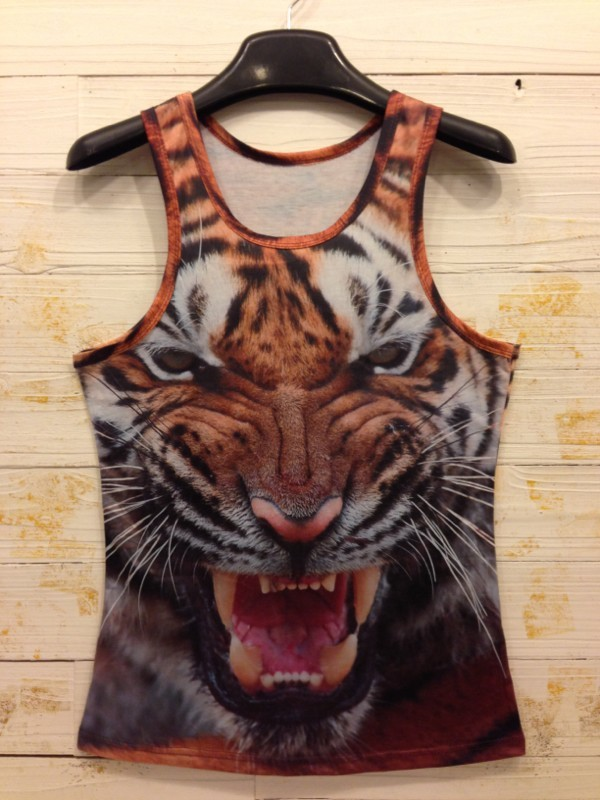 2016 Summer Animal 3D Print Shirts Man Tank Tops Pinted Sleeveless Vest Man Tee Shirts Short Crop Tops Mens Vest 16 colors(China (Mainland))
