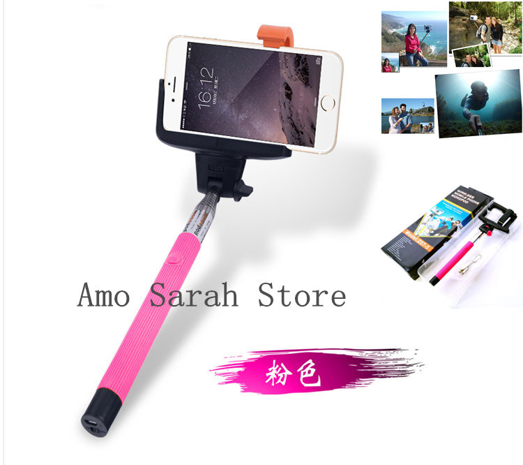 z07 5 extendable bluetooth pink channel selfie stick monopod for iphone andro. Black Bedroom Furniture Sets. Home Design Ideas