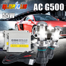 Buy 1 set h4 xenon lamps kit G500 hid conversion kit xenon h4-3 bi xenon beam 3000k 4300k 5000k 6000k 8000k 10000k h4 hi low xenon for $32.63 in AliExpress store