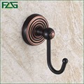 FLG Euro Style Hot Selling Oil Rubbed Bronze Black Color Modern Robe Hook For Bathroom Fittings