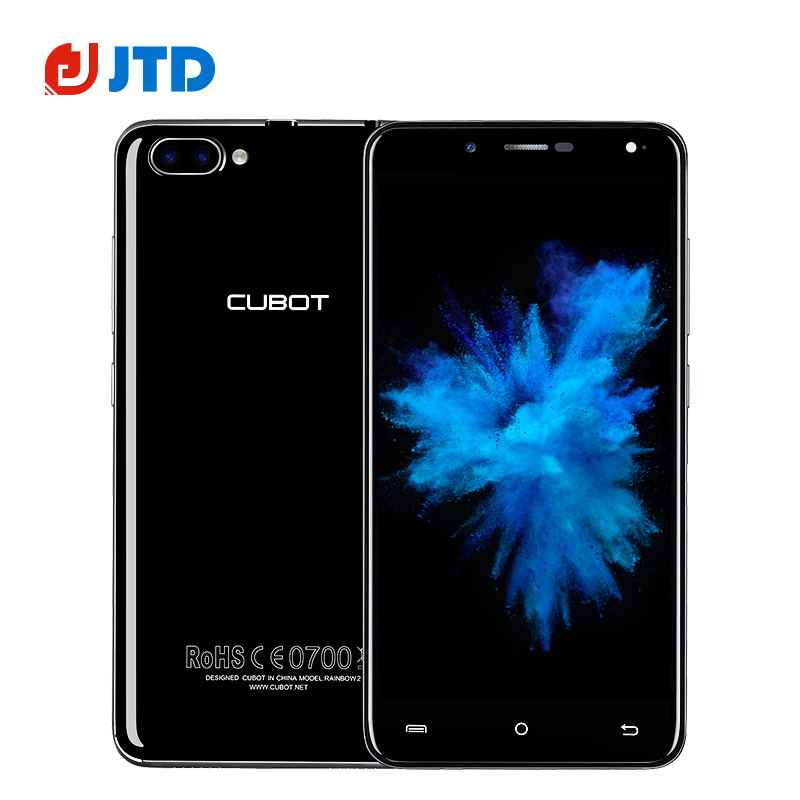 New Cubot Rainbow 2 Smartphone 5.0 Inch Android 7.0 MT6580 Quad Core Three Camera 13MP+5MP+2MP 1GB+16GB 2350mAh 1.3GHz CellPhone(China (Mainland))