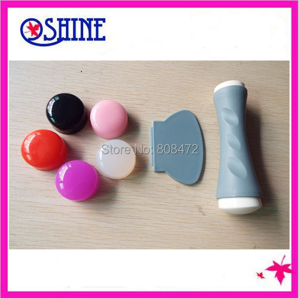2015 new XL double stamper with 5PCS EXTRA soft candy refill FREE SHIPPING squishy silicone soft nail stamp(China (Mainland))