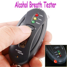 Dropship Prefessional Police Digital Breath Alcohol Tester battery the Breathalyzer Parking Car Detector Gadget Gadgets Meter(China (Mainland))