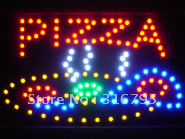 led060-r Pizza Shop LED Neon Sign WhiteBoard(China (Mainland))
