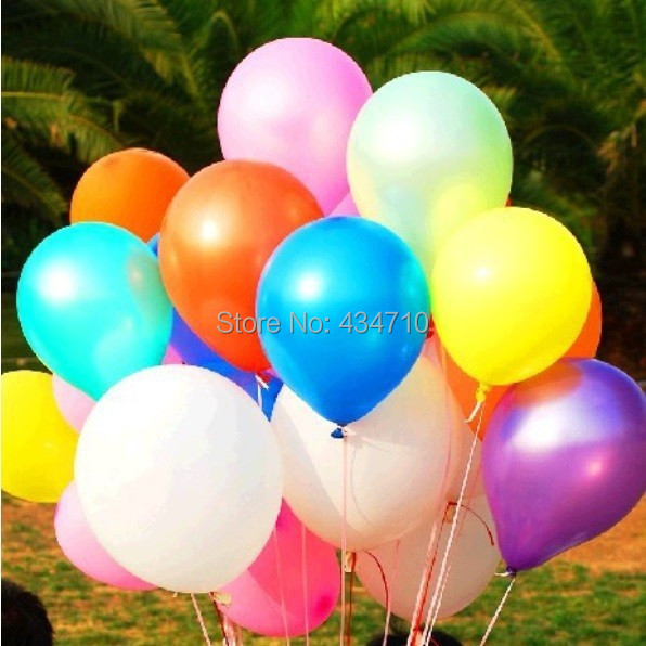 100pcs/Lot 10inch 1.2g/Pcs Latex Helium Inflable Ball Ballon Wedding Party And Birthday Decoration Pearl Balloon(China (Mainland))