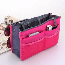 Hot vente! 12 couleurs Make up organisateur sac de voyage Casual femmes hommes sac multiples de stockage sac cosmétique fonctionnelle dans un sac à main(China (Mainland))