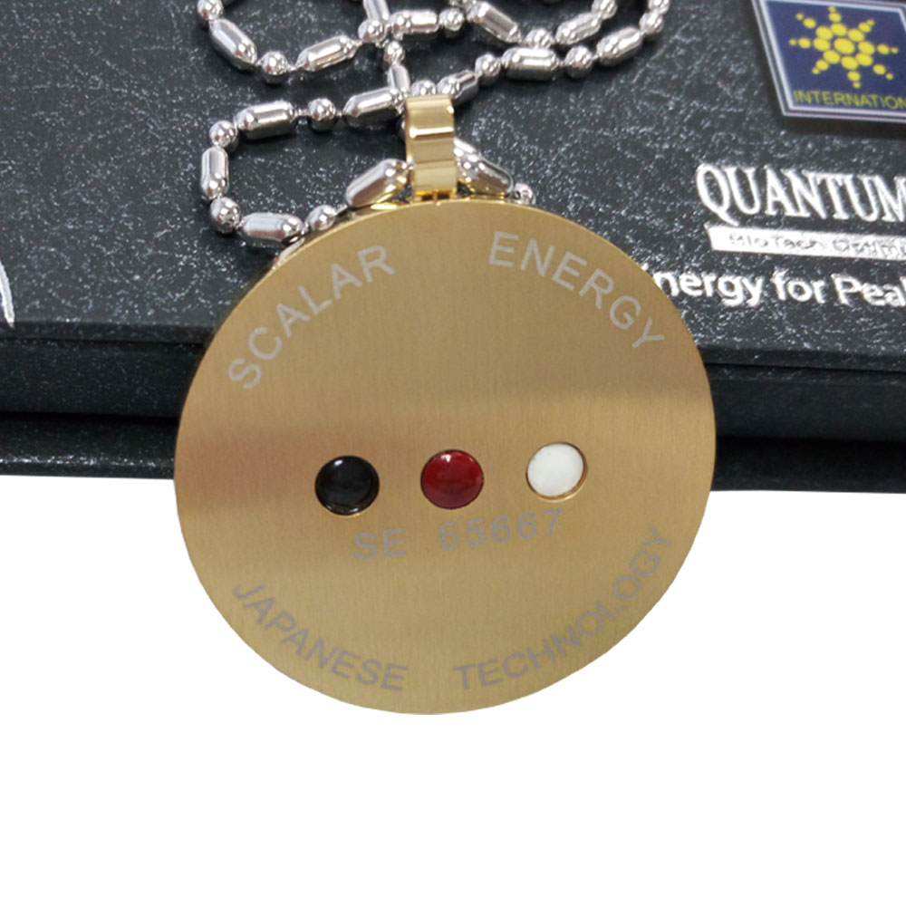 Men Gold Pendant Ions Scalar Energy Stainless Steel Silver Chain Necklace Health Nano Wallet Card Fashion Jewelry Accessories(China (Mainland))