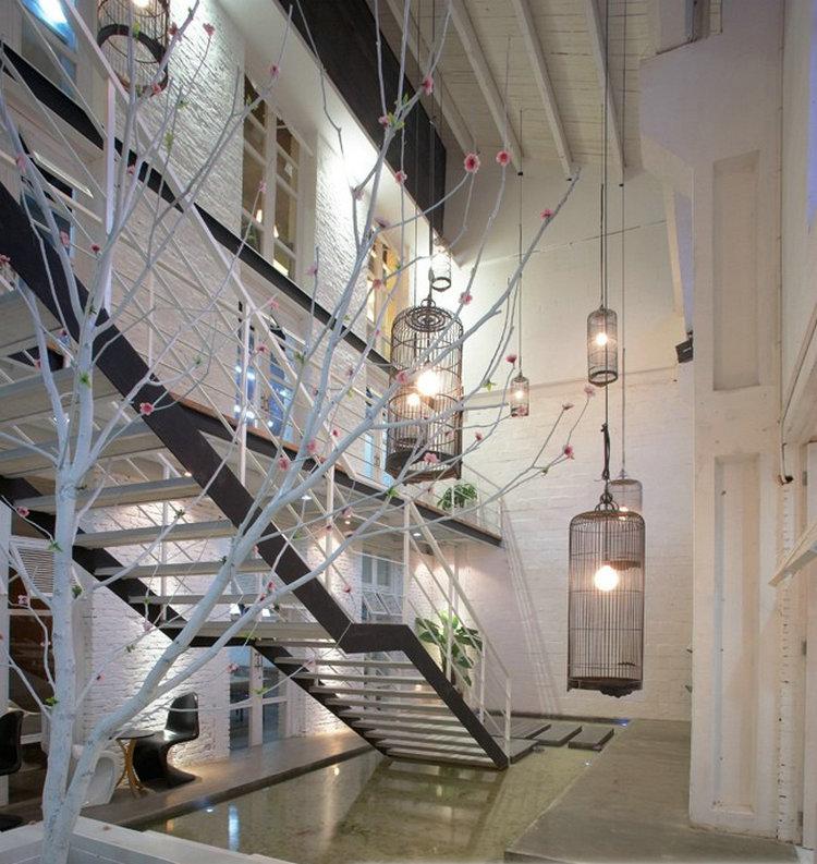 Fashion iron bird cage living room hanging floor lamp bird cage pendant lamp 30X68CM decoration(China (Mainland))