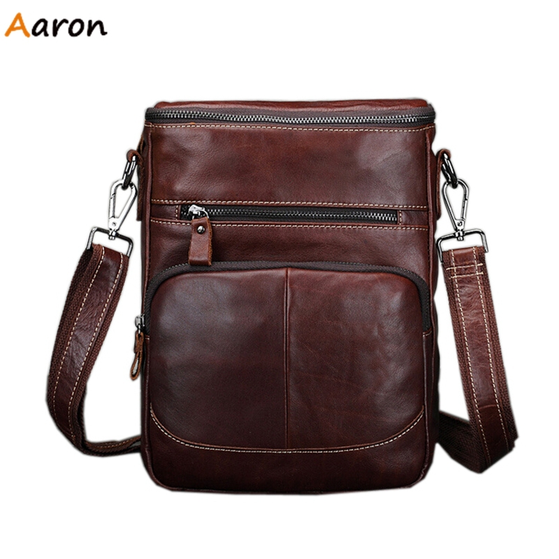 Aaron - Personalized Camber Zipper Open Messenger Bags For Men,Oil Wax Leather Male Crossbody Bag,Business Bag With Solid Bags<br><br>Aliexpress