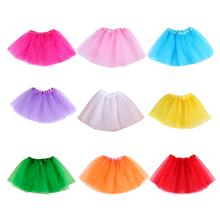 Baby Girls Tutu Skirt Children Dance Skirt Translucent 3-Layer Net Yarn Beautiful Colors Girls Sport Skirt Length 28CM