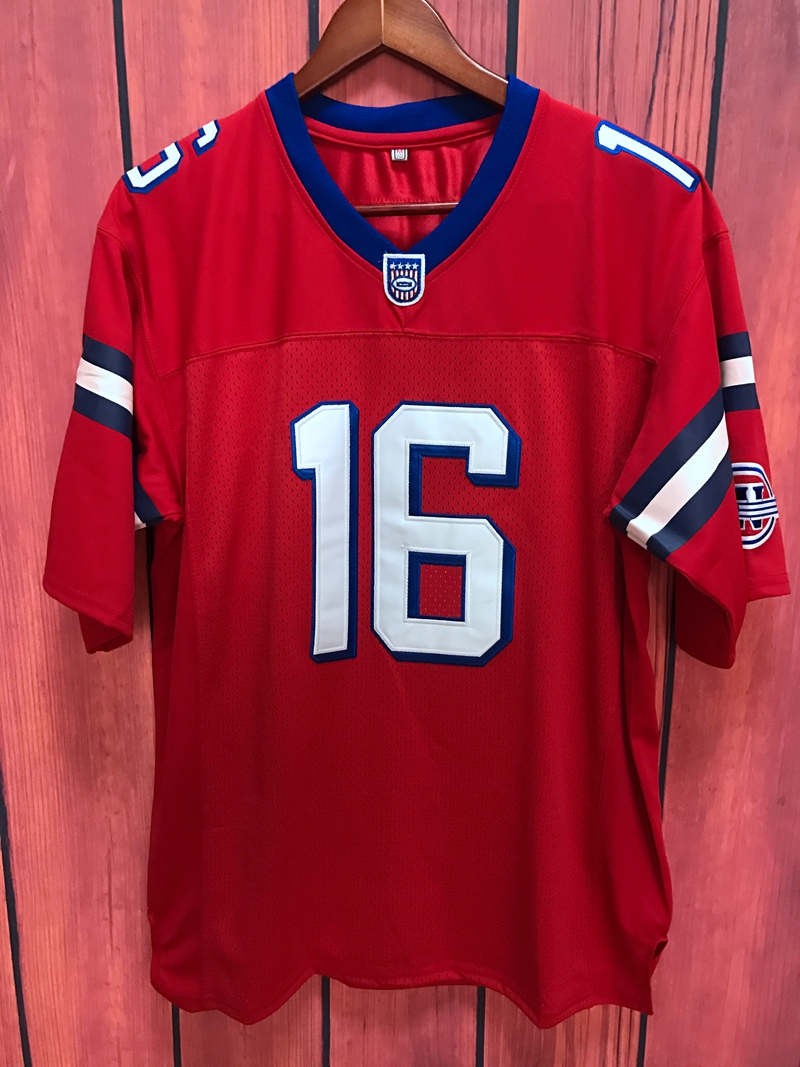 EJ The Replacements Movie Shane Falco #16 American Football Jersey All stitched Red(China (Mainland))