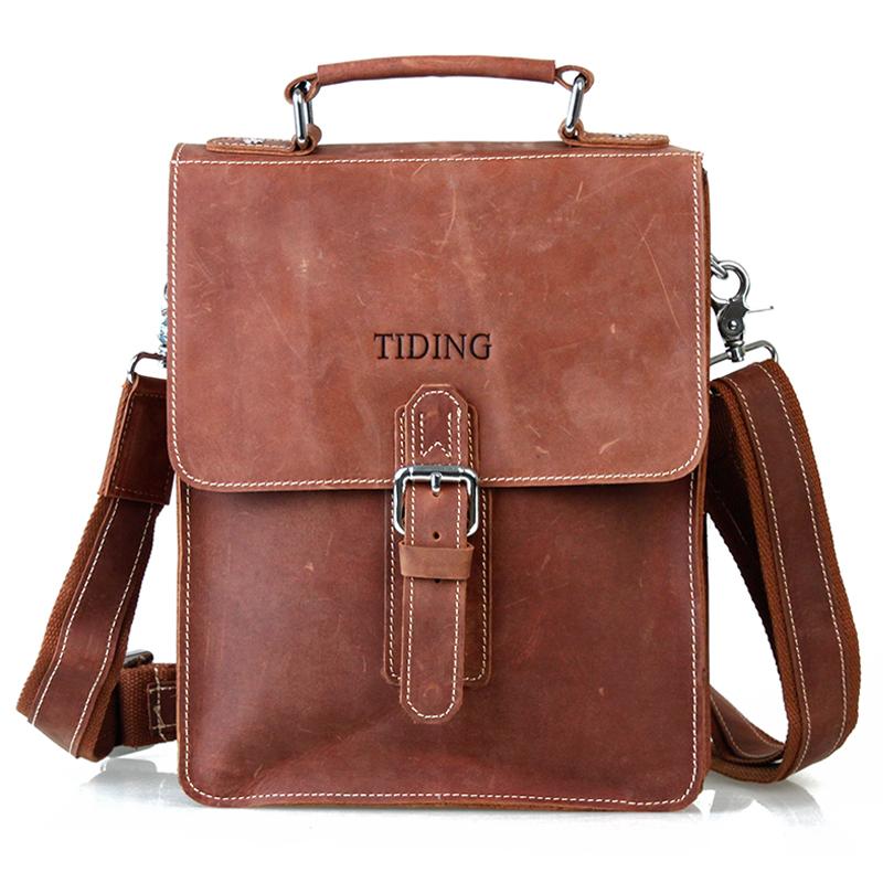 2014 fashion vintage man bag genuine leather cowhide male vertical portable document