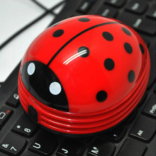 New Arrival Cute Beetle Ladybug Cartoon Desktop Vacuum Desk Dust Table Cleaner Portable New Free Shipping (China (Mainland))