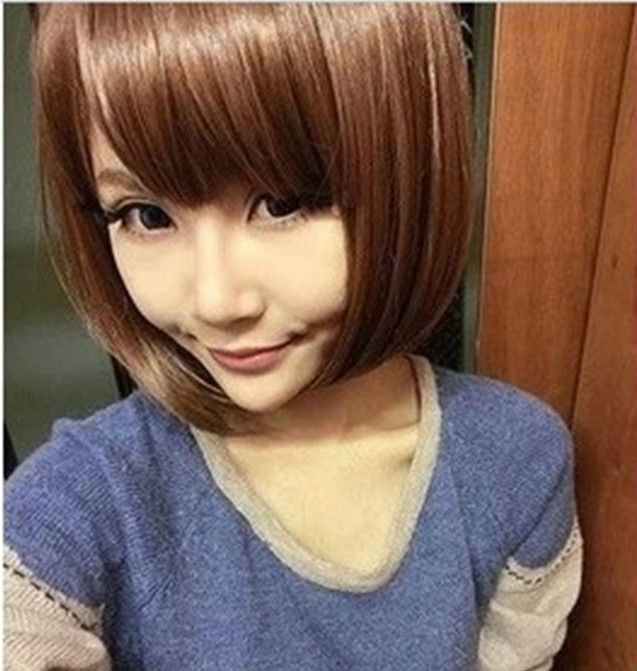 3 Color Can Choose (Black Dark Brown Light Brown) Short Straight Synthetic Cosplay Party Hair Wig Free Shipping<br><br>Aliexpress