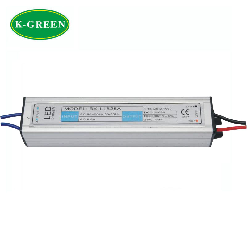 High quality 15-25*1W waterproof led driver  input Voltage AC90-264V / Output 45-110V 300MA free shipping<br><br>Aliexpress