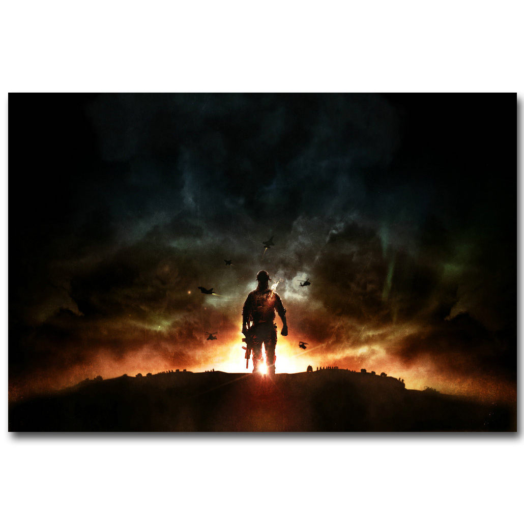 Battlefield BF 1 4 Art Silk Fabric Poster Print 13x20 24x36inch Hot Game Soldier Pictures Children Room Wall Decor Gift 09