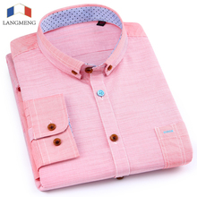 Buy Langmeng New arrival Spring Mens Casual Shirt Long Sleeve Slim Fit Men Dress Shirts Brand 2017 100% cotton Camisa Chemise Homme for $30.58 in AliExpress store