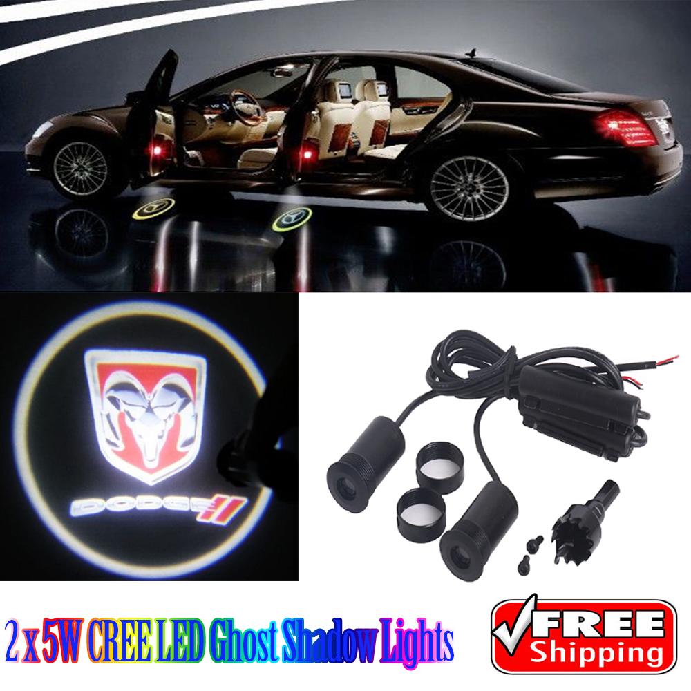 2 x 5 W LED de voitures fantômes ombre lumières pour Dodge Avenger Challenger chargeur(China (Mainland))