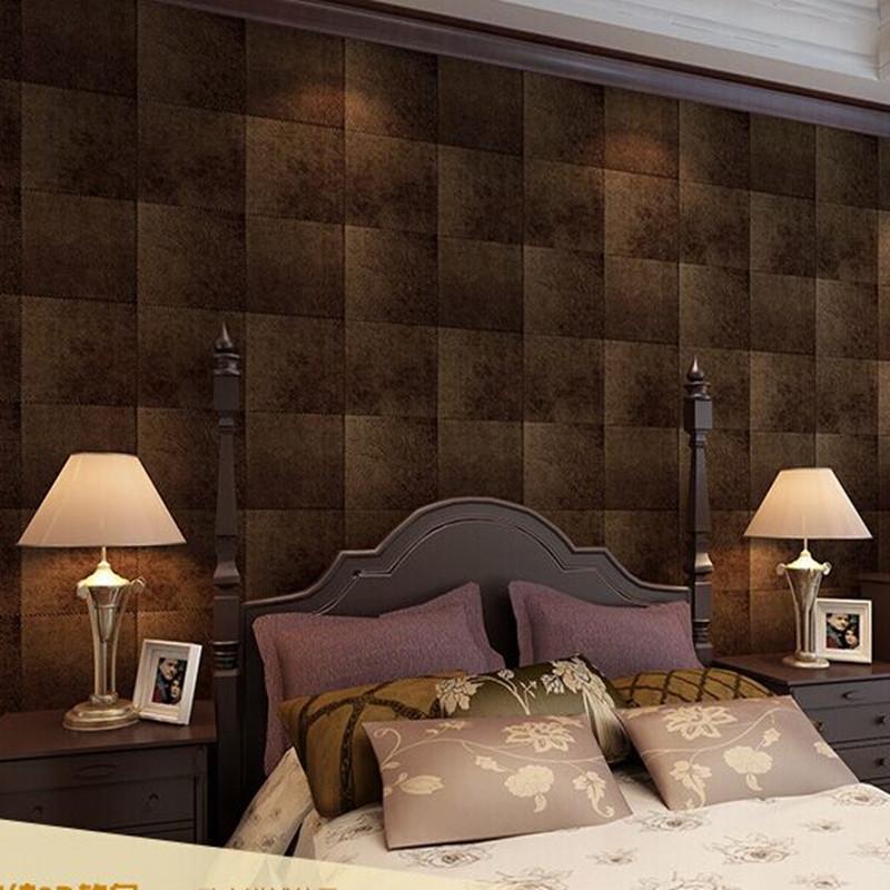 Здесь можно купить  High Texture Vinyl Faux Leather Textured Wallpaper 0.53m*10m,Wall Paper Rolls For Home Living Room Office Bar Decoration 5052  Дом и Сад