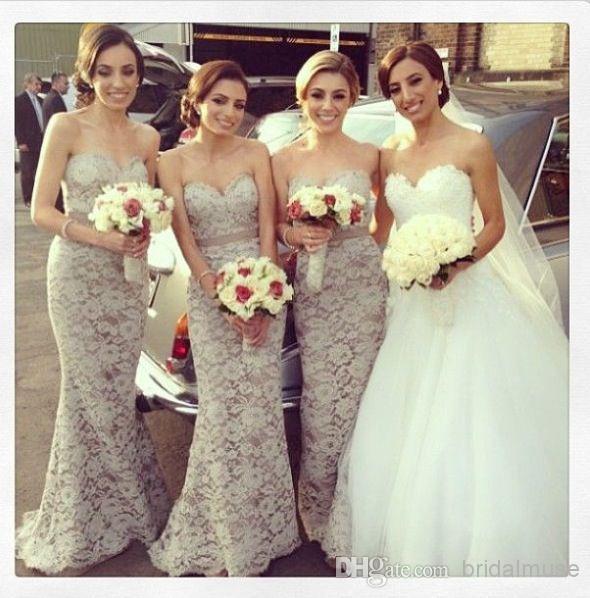 Light Grey And Pink Bridesmaid Dresses - Wedding Dress Ideas