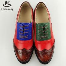 Натуральная Кожа Большой Размер обуви США 11 Дизайнер Старинные Плоские Туфли круглый Носок Ручной Белый 2017 весна Оксфорд Обувь Для Женщин Меха(China (Mainland))