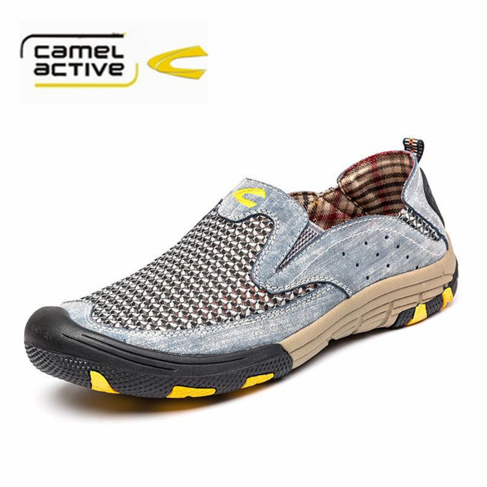 Camel Active 2016 Summer Men Casual Shoes Lightweight Breathable Mesh Outdoor Shoes Men Loafers Flats Moccasins Shoes<br><br>Aliexpress