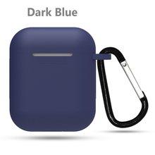 1 piezas silicona TPU Bluetooth inalámbrico auricular funda protectora piel accesorios para Apple Airpods caja de carga con ganchos(China)