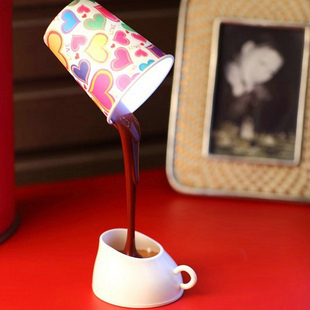 Table lamp usb battery dual lamp coffee led small lamp small night light bed-lighting()