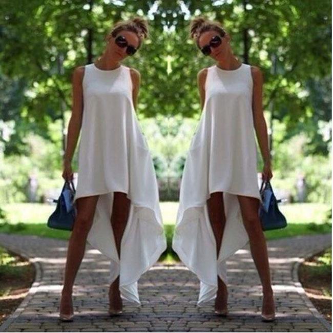 Plus Size White Cotton Dress Cotton Maxi Dress White