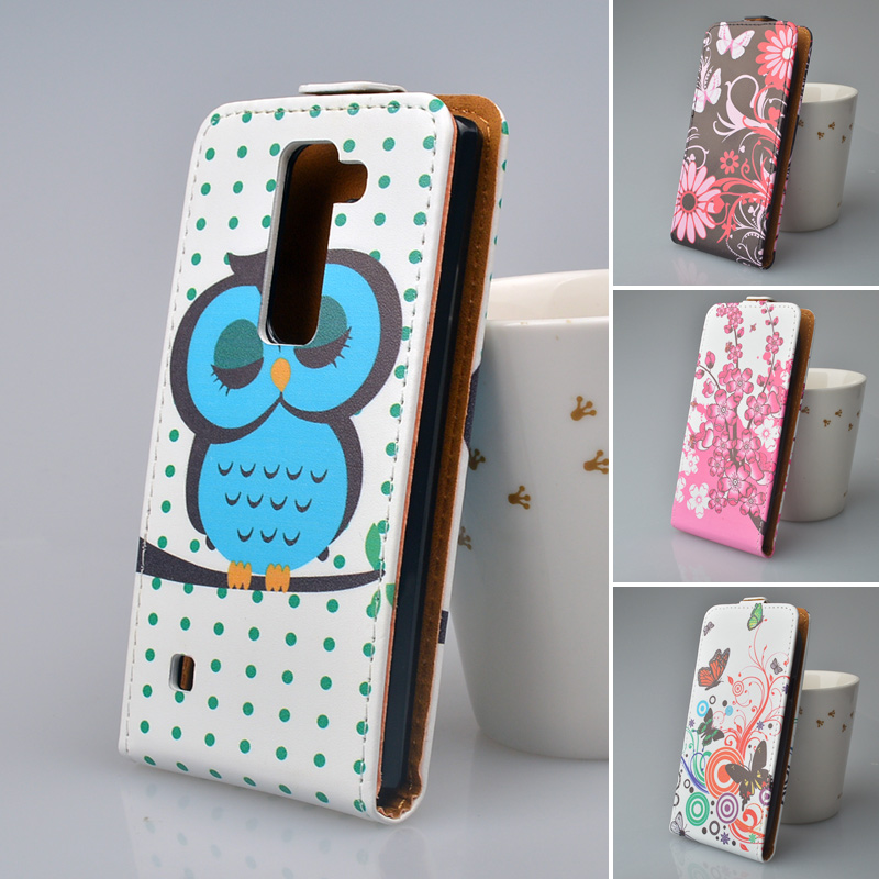 Cute Printing Leather Case For LG K7 X210 X210DS MS330 / Tribute 5 / K7 Dual SIM / For LG M1 Flip PU Leather Cover Phone bag(China (Mainland))