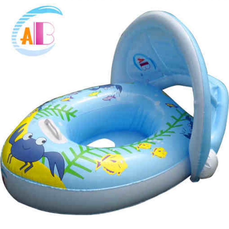 Baby Sun Protection Inflatable Boat 0-3 yrs Kids Pool Seat 2016 Children Swimming Inflatable Floats Baby Swim Ring Accessories(China (Mainland))