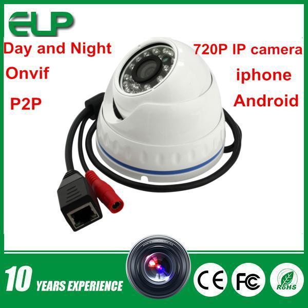 USA Outdoor Waterproof 1.0MP HD 720P night vision IR Mini Dome white IP Camera Security Camera Onvif <br><br>Aliexpress