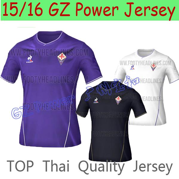Top Thailand Quality fiorentina 2015 jersey Home away AQUILANI M GOMEZ ROSSI BATISTUTA football Shirt(China (Mainland))