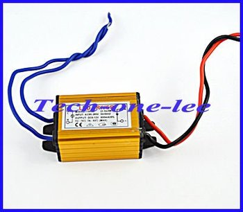 (10pcs/lot) (2-3)x3w LED Driver 85/265V AC input,5/12V DC output Power Supply