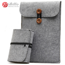 "Newest ! Wool Felt for macbook 11""12""13"" Laptop Sleeve Pouch For Macbook Air/Pro/Retina Ultrabook Cover Case Notebook Inner Bag(China (Mainland))"