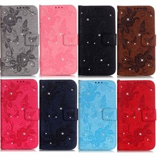 Top Fashion Luxury Diamond Butterfly Embossing Painting Leather Case For Apple iPhone 7 iphone 7 Plus Cases Mobile Phone Shell