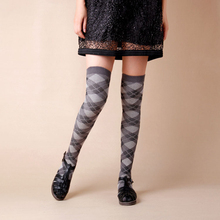 2015 NEW 4 Colors Fashion Sexy Thigh High Over The Knee Socks Long  warm Cotton Stockings For Girls Ladies Women K163