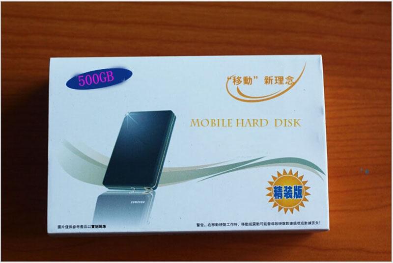 Bestselling NEW Brand 500GB External Hard Drive USB 2.0 2.5 HDD external hard disk drives free shipping(China (Mainland))