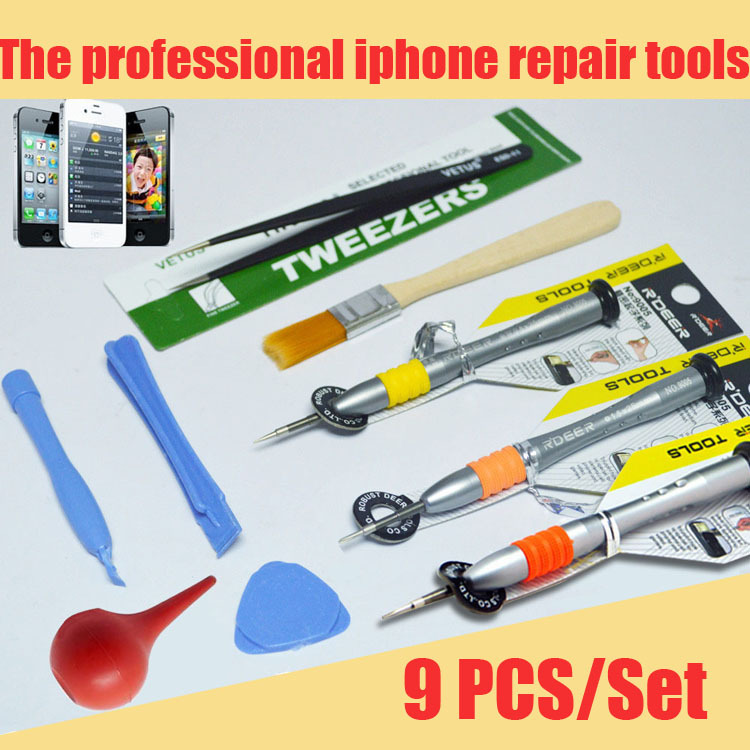 New 9 In 1 Mobile Phone Opening Pry Repair Tools Screwdrivers Set Kit For Cell Phone Computer ETC Wholesale free shipping(China (Mainland))