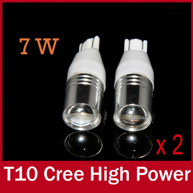 2 X W5W 921 912 High Power T15 T10 CREE Led White Optical Projector Lens Bulbs Lamp for Car drl Backup Reverse Lights Offroad(China (Mainland))