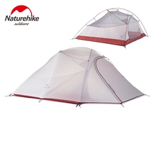 1.8KG Naturehike Tent 3 Person 20D Silicone Fabric Double layer Rainproof Camping Tent NH Outdoor Tent 4Season(China (Mainland))