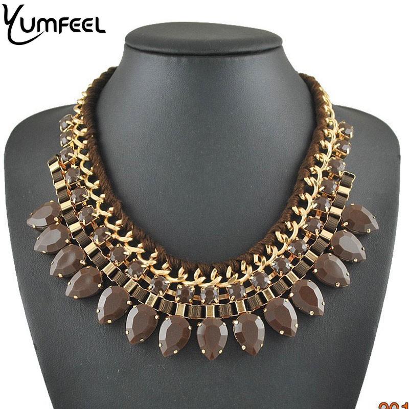 Brand Jewelry New Statement Necklaces Fashion Women - Yumfeel (Mix Minimum Order USD10 store)