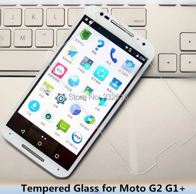 High quality 0.26MM HD LCD Guard Film FOR Motorola Moto G2 G1+ Tempered Glass Film Screen Protector With Retail Package(China (Mainland))