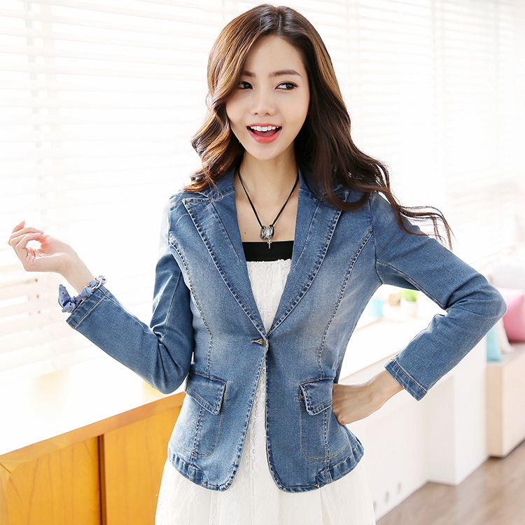 Cheap Blue Jean Jackets For Women - JacketIn